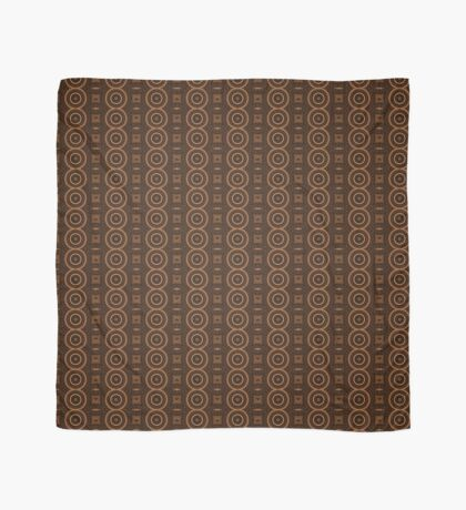 Circle, Square and Line Pattern Caramel Scarf