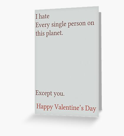 Except You Greeting Card
