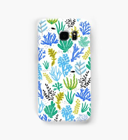 Marine life, seaweed illustration Samsung Galaxy Case/Skin