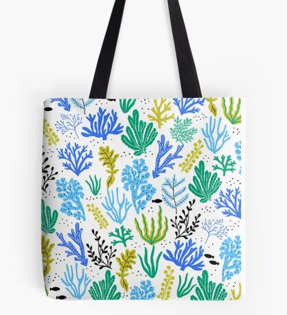 Marine life, seaweed illustration Tote Bag