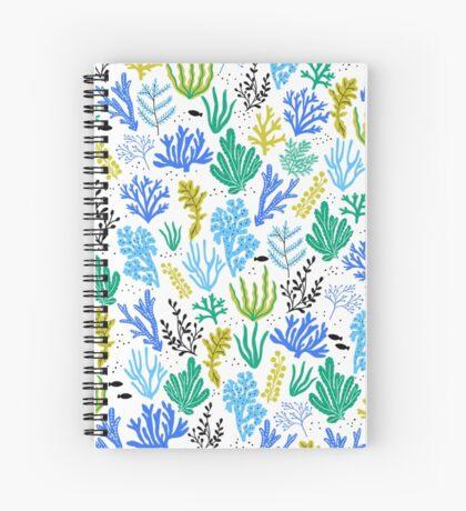 Marine life, seaweed illustration Spiral Notebook