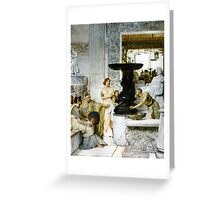 The Sculpture Gallery 1874 Sir lawrence Alma-Tadema Greeting Card