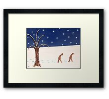 GOING HOME THROUGH THE SNOW Framed Print