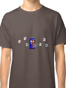 Mario & Doctor Who - Mario (Tardis) Classic T-Shirt