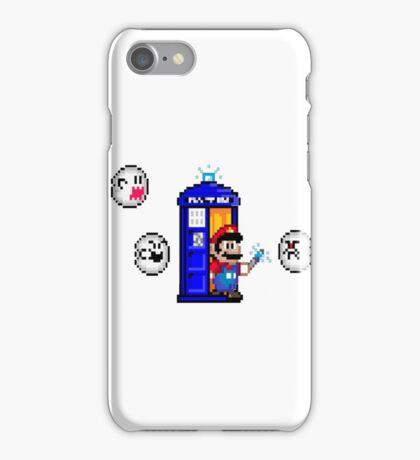Mario & Doctor Who - Mario (Tardis) iPhone Case/Skin