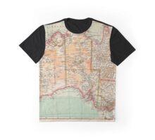 Australia Antique Maps Graphic T-Shirt