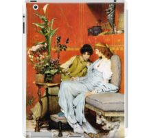 Confidences 1869 by Sir Lawrence Alma-Tadema iPad Case/Skin