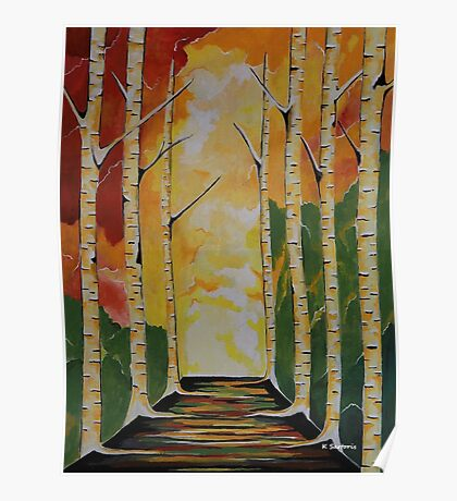Meet Me By The Birches Poster