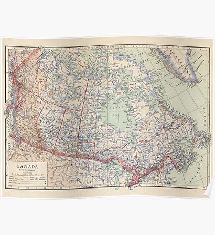 Canada Antique Maps Poster