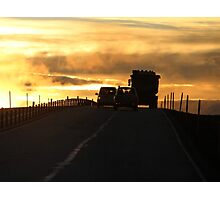 Driving into a New Day Photographic Print