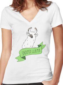 Drama Llama Women's Fitted V-Neck T-Shirt