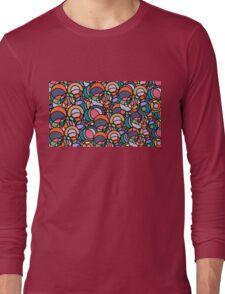 Bubbleforms - orange and violet multicolour Long Sleeve T-Shirt