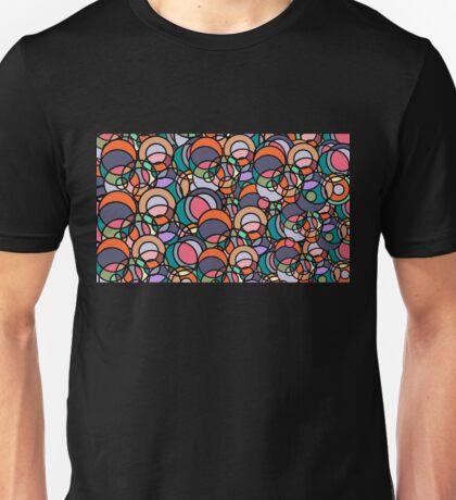 Bubbleforms - orange and violet multicolour Unisex T-Shirt