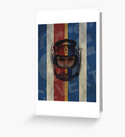 Francois Cevert Design Greeting Card
