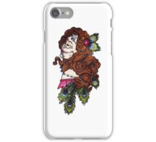 girl with peacock feathers iPhone Case/Skin