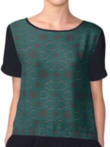 Silver Hearts by Julie Everhart Chiffon Top