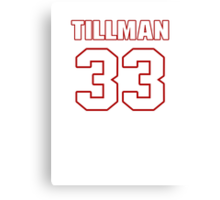 NFL Player Charles Tillman thirtythree 33 Canvas Print