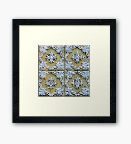 Yellow Tiles Framed Print