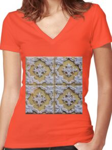 Yellow Tiles Women's Fitted V-Neck T-Shirt