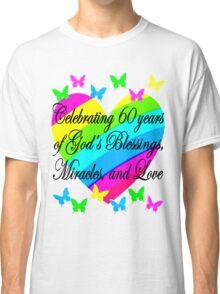 PRETTY HEART 60TH BIRTHDAY DESIGN Classic T-Shirt