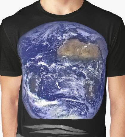 Earth Rise on Moon Graphic T-Shirt