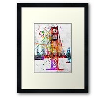 Golden Gate Bridge Grunge Framed Print