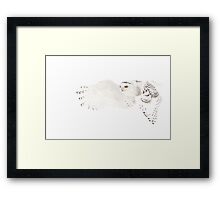He went that away - Snowy Owl Framed Print