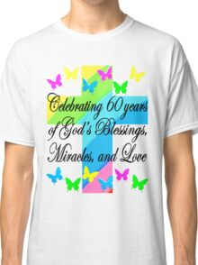 RELIGIOUS 60TH BIRTHDAY CROSS DESIGN Classic T-Shirt