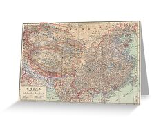 China Antique Maps Greeting Card