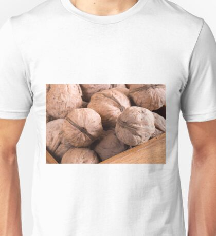 Macro view of a group of walnuts Unisex T-Shirt