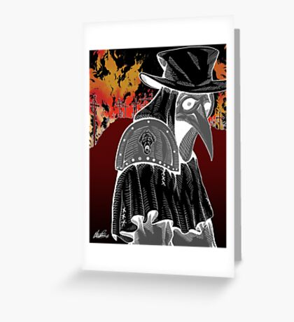Plague Doctor - Hell's Fury Greeting Card