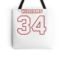 NFL Player DeAngelo Williams thirtyfour 34 Tote Bag