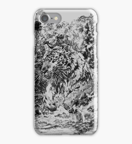 Jumping tiger iPhone Case/Skin