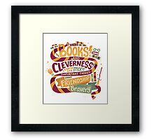 Books and cleverness Framed Print