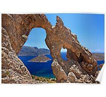 Natural Rocky Arch - Kalymnos island Poster