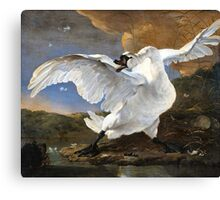 The Threatened Swan by Jan Asselyn 1615-1652 Canvas Print