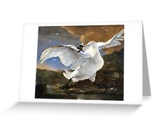 The Threatened Swan by Jan Asselyn 1615-1652 Greeting Card