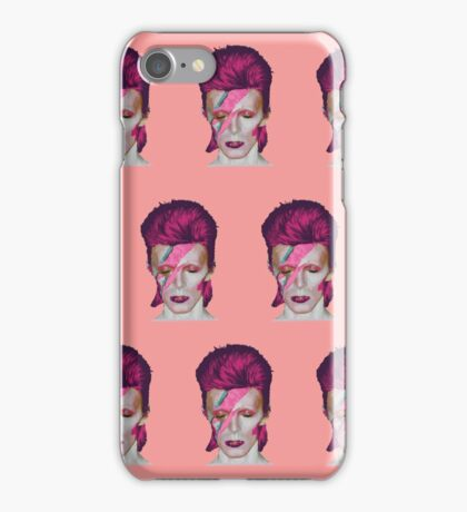 David Bowie Aladdin Sane Pink Pattern // David Bowie Shirt // David Bowie Dress // David Bowie Mug // David Bowie Poster // David Bowie Clock // David Bowie Ziggy Stardust iPhone Case/Skin