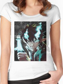 Blue exorcist #01 Women's Fitted Scoop T-Shirt