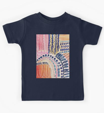 Shakti Abstract Hand Painted Design Kids Tee