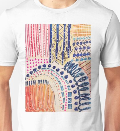Shakti Abstract Hand Painted Design Unisex T-Shirt