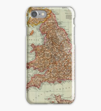 England and Wales Antique Maps iPhone Case/Skin