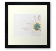 Today's Going To Be Amazing Motivational Merchandise Framed Print