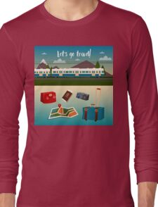 Time to Travel by Train Long Sleeve T-Shirt