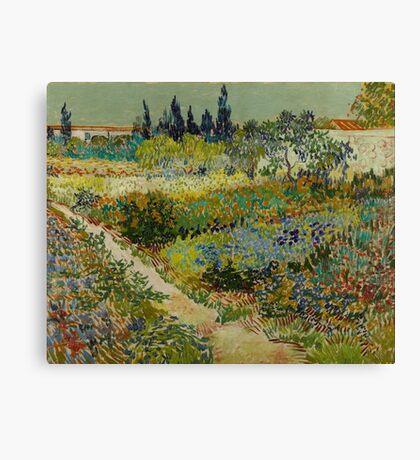 Vincent Van Gogh - Flowering Garden 1888 Canvas Print
