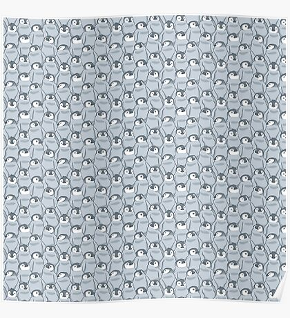 Baby Penguins Pattern Poster