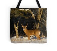 A Winters Sunset - White-tailed deer Buck Tote Bag