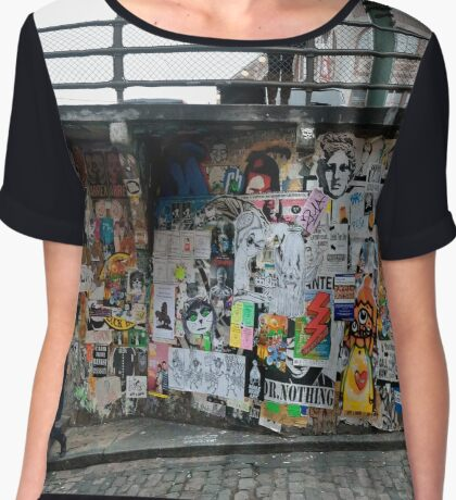 Post Alley Stairs Chiffon Top
