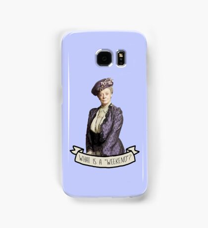 Lady Grantham Dowager Countess Violet Downton Abbey Samsung Galaxy Case/Skin