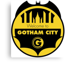 Welcome Gotham Canvas Print